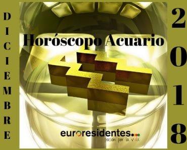 Horóscopo Acuario Diciembre 2018