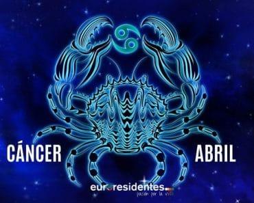 Horóscopo Cáncer Abril 2021