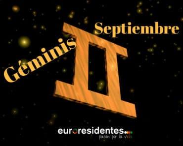 Horóscopo Géminis Septiembre 2020