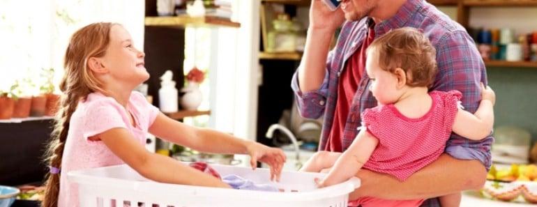 tareas del hogar y niños