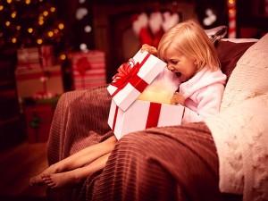 Regalos de Navidad y niños