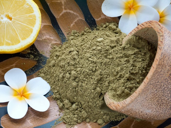 Tinte natural de henna, limón y coco