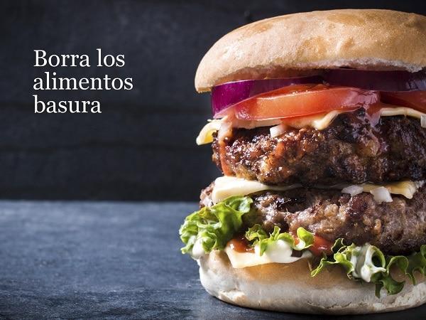 Comida basura, hamburguesa