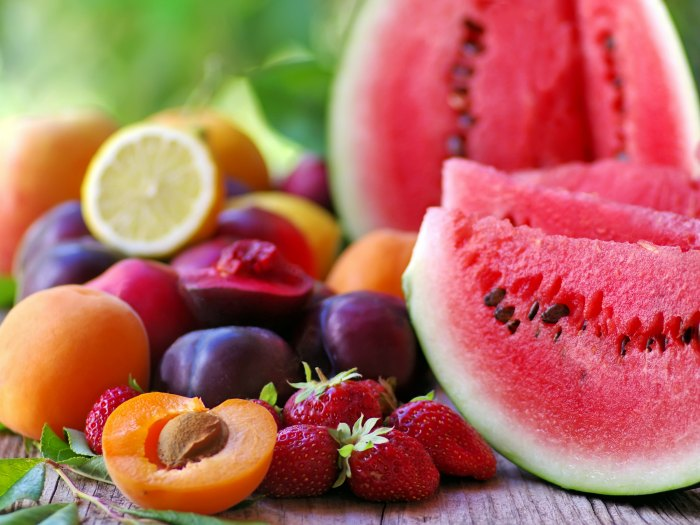 Frutas frescas variadas