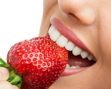 Comer fruta: fresones