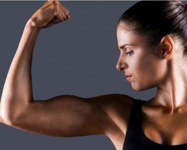 Brazos musculados con la Diadermocontracción