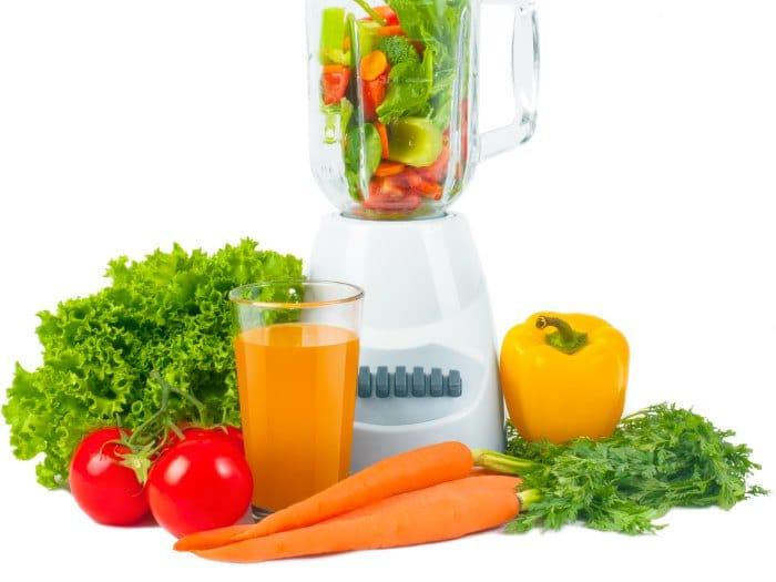 Zumo manzana y zanahorias para Tiroides