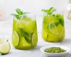 Bebida de té verde para adelgazar