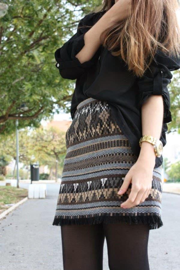 8abaa2bc9 Original y sencillo acabado para una falda - Moda y estilo