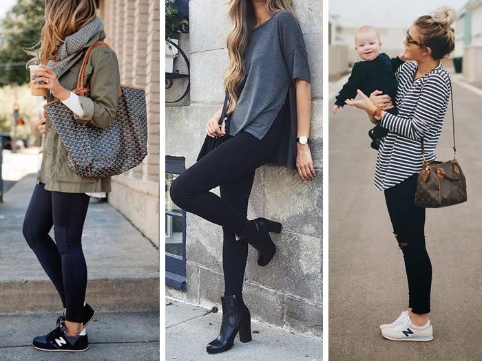 Ideas para combinar leggins negros