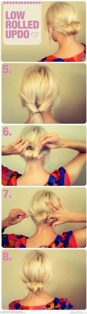 peinados fáciles, recogido
