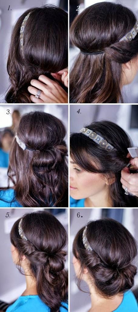 peinados fáciles con turbante