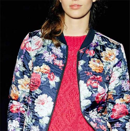 chaquetas de flores Benetton