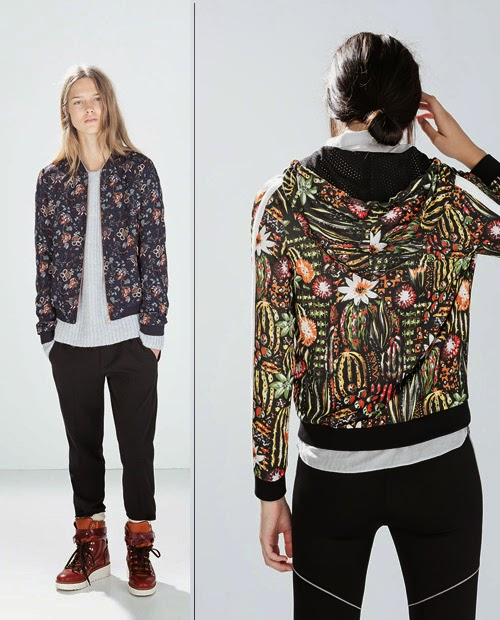 chaquetas de flores zara