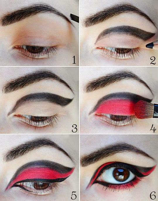 Maquillajes de halloween para mujer moda y estilo for Pintarse los ojos facil