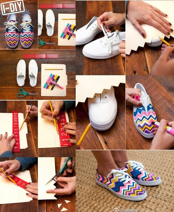 personalizar zapatillas blancas con rotuladores