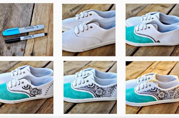 diy: pintar zapatillas
