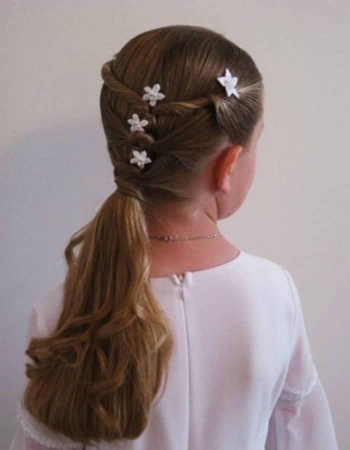 17 Ideas De Peinados Para Tu Primera Comunion Moda Y Estilo - Peinados-para-comunion-de-nia