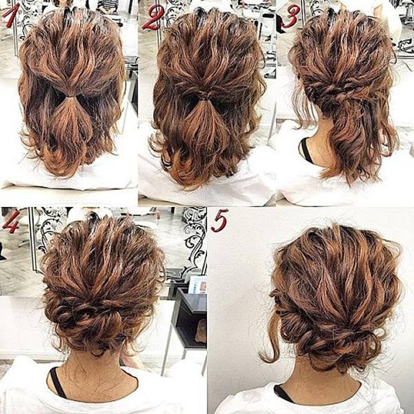 Peinados pelo corto: semi recogido media melena
