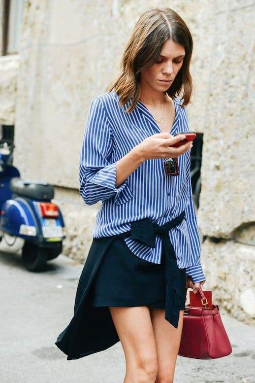 30 ideas para vestir una camisa de rayas