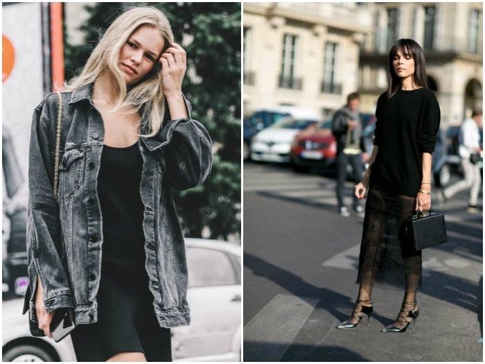 ideas combinar vestido negro