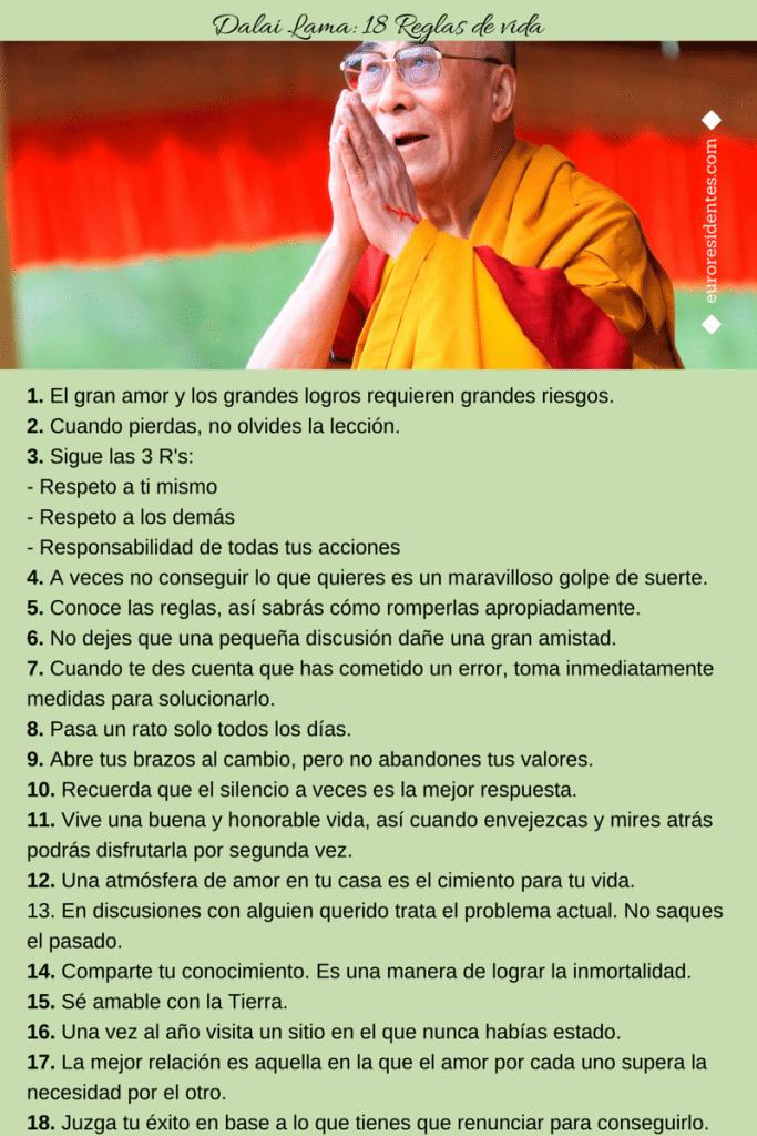 reglas de vida del dalai lama