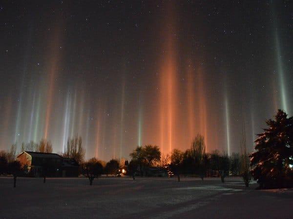 Fenómenos de la naturaleza: columnas de luz