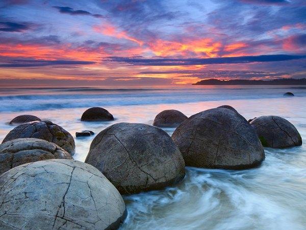 Piedras redondas, naturaleza