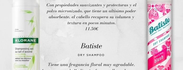 Tu nuevo aliado: el champú en seco o dry shampoo