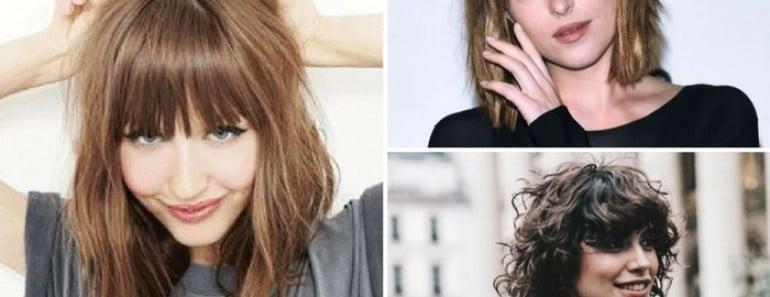 8 tipos de flequillo para 4 tipos de rostro