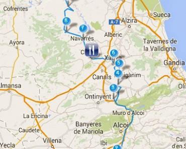 Curveando desde Alicante a Cheste por las montañas alicantinas y valencianas