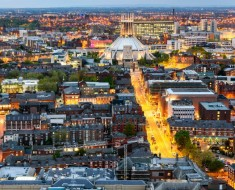 Liverpool city and the Metropolitan Cathedral