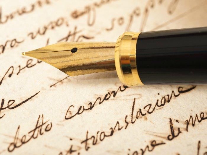 Escribir en pluma