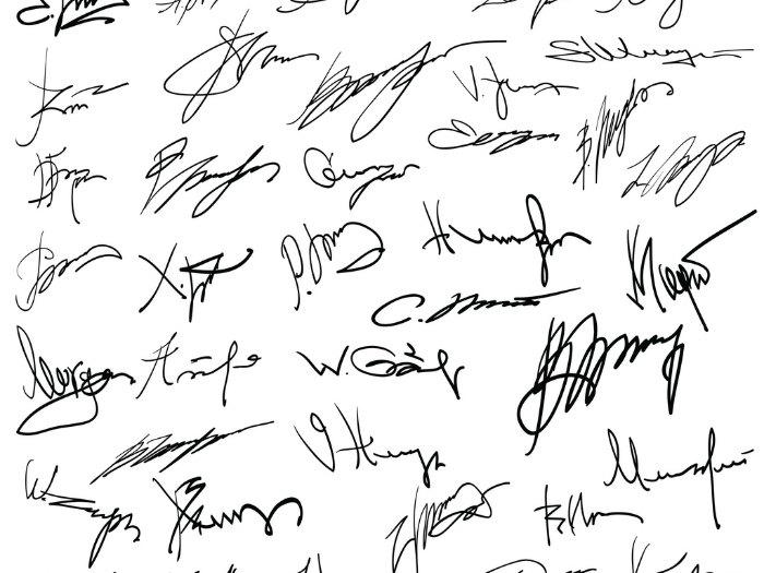 Análisis de firma y rúbrica
