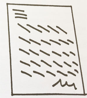 Estudio de la inclinación las Líneas imbricadas descendentes