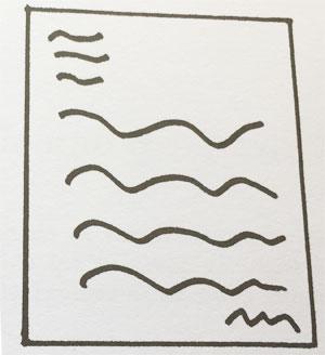 Estudio de la inclinación las Líneas onduladas