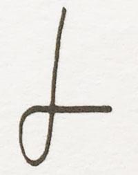 Grafología Inductiva Alfabética letra L mayúscula caligráfica