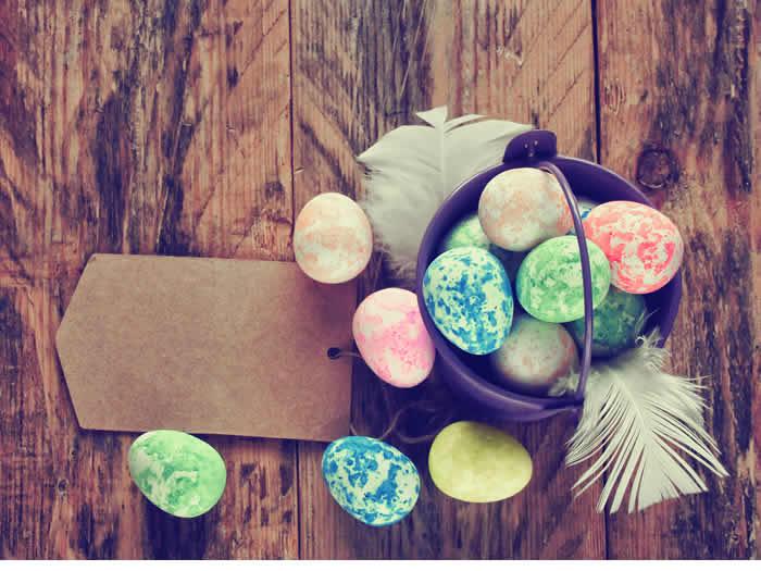 Cómo pintar huevo de pascua efecto marmolado