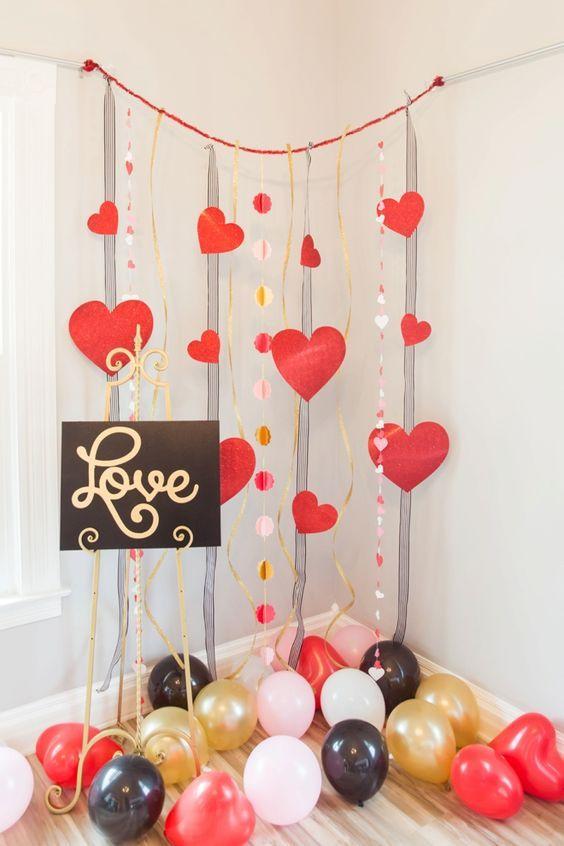 Globos San Valentín ideas baratas
