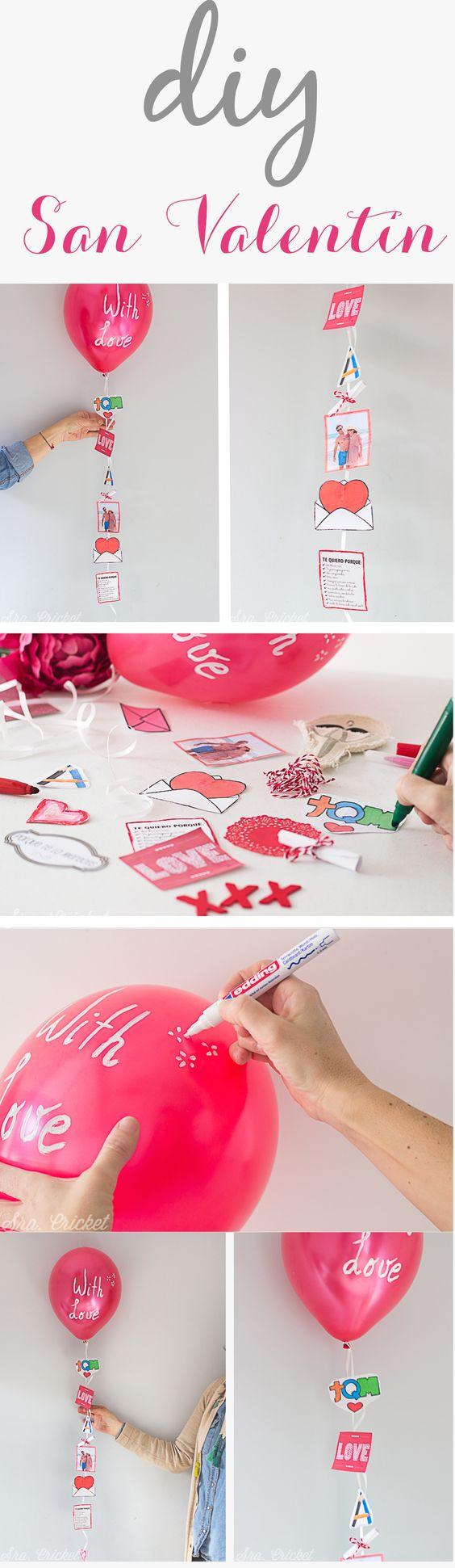 San Valentín barato: globos