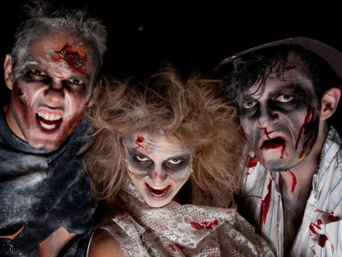 disfraz de zombie para halloween maquillaje