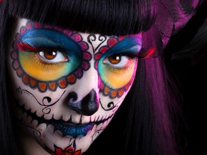 trucos de maquillaje para halloween catrina