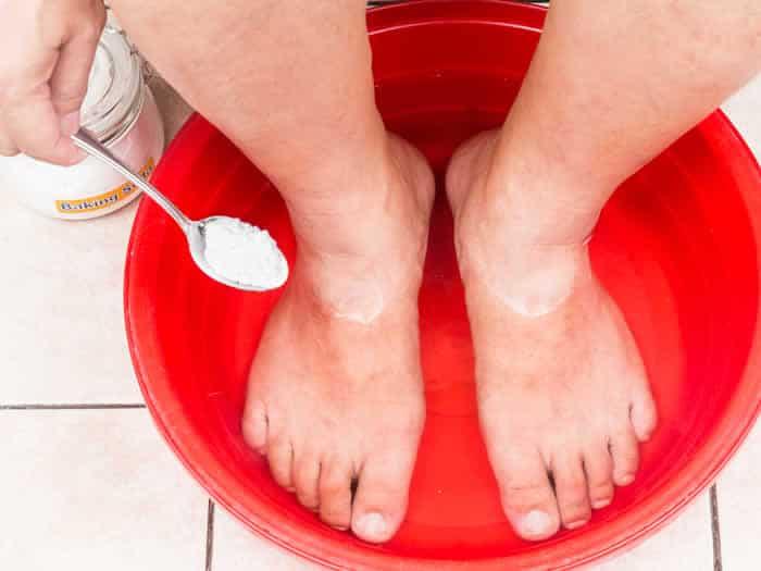 Usos bicarbonato: pies cansados