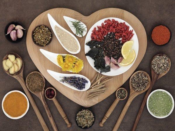 Hierbas y especias para el corazón