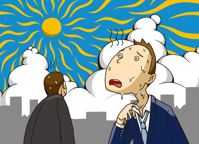 solucionar problemas de sudor: Abrigarse demasiado