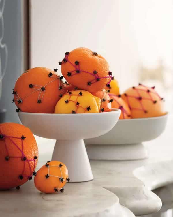 Ambientador casero de clavo y naranja
