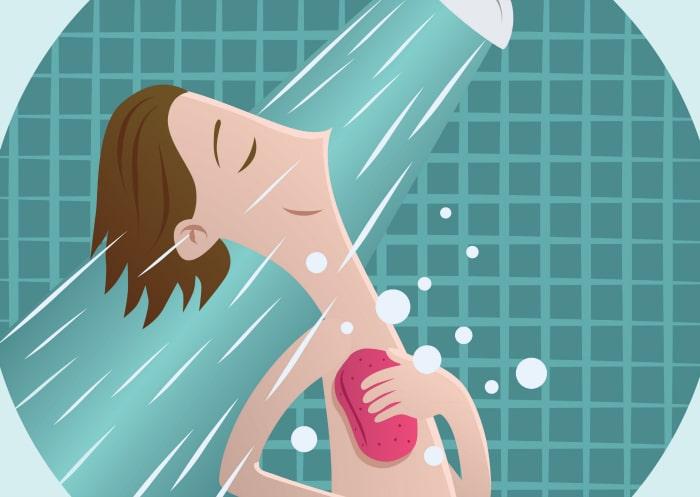 solucionar problemas de sudor: Ducharse más