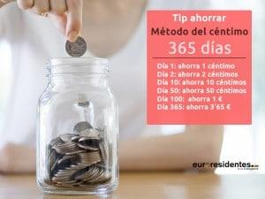 cómo ahorrar con el método del céntimo