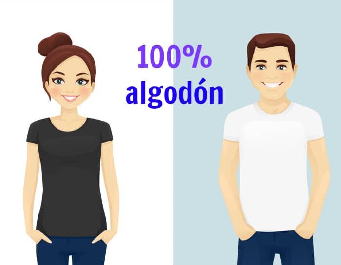 solucionar problemas de sudor: usa ropa de algodón
