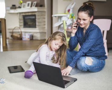 Trabajar en casa con niños: cómo organizarse